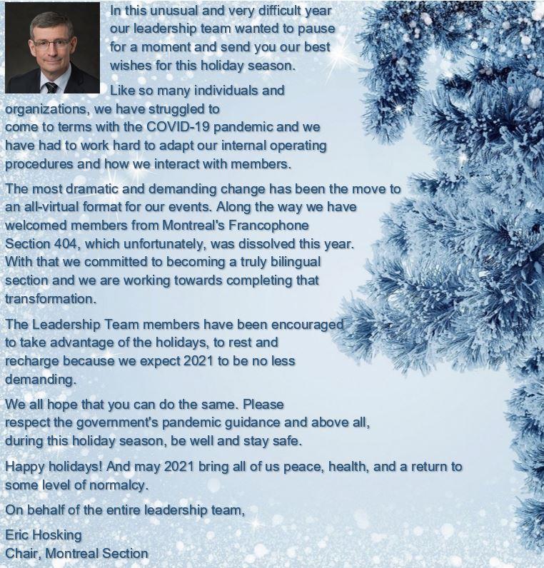 Holiday Message 2020 EN
