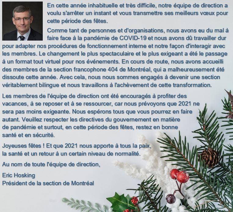 Holiday Message 2020 FR